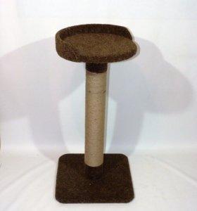 Ковролиновая когтеточка 80 см (корич)