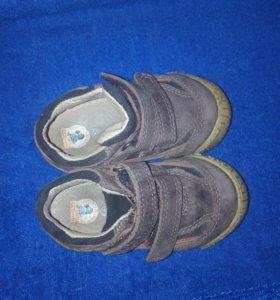 Туфли-кроссовки кожанные