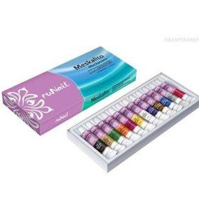 Акриловые краски для дизайна ногтей! Б/у