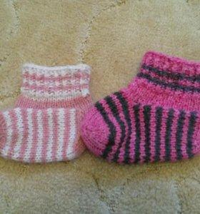 вязаные носки и следки