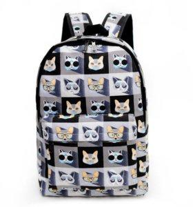Рюкзак с котиками. Новый