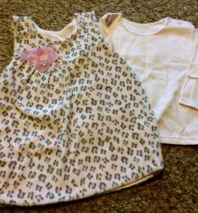Платье для девочки 74 размер