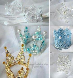 Детские короны, повязки, шпильки