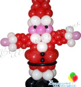 Новогодние фигуры из шаров