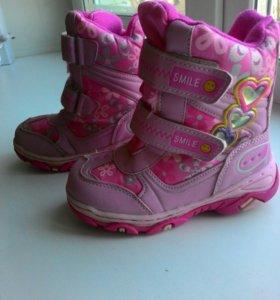 Зимние ботиночки для девочки.