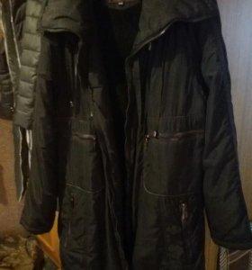 Куртка на синтепоне удлинненая на 62/64р