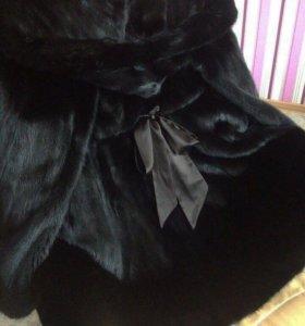 Норковая шубка, чёрный цвет