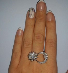 Кольцо новое, серебро