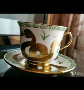 Чашка с блюдцем. Loraine. Новая.