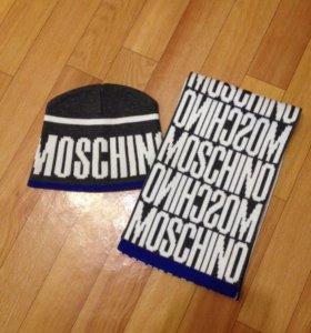 Шапка,шарф Moschino