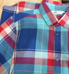 Рубашка Н&М мальчик 12-14лет