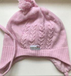 Розовая шапка на весну KERRY