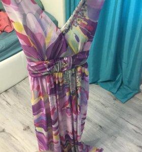 Длинное платье шифон