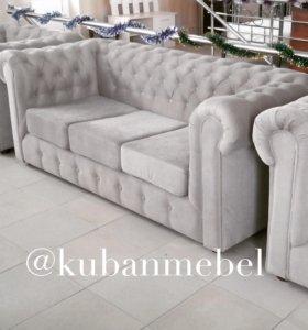 Комплект мягкой мебели ( диван и 2 кресла)