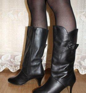 Новые сапоги демисезонные кожаные