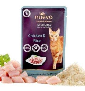 Nuevo sterilized корм для стерилизованных кошек