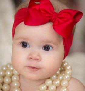 Красивые детские бантики, заколочки, ободки