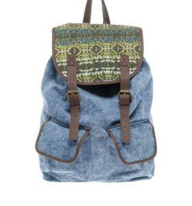 Рюкзак новый синего цвета под джинс