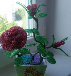 Розочка кустовая из бисира