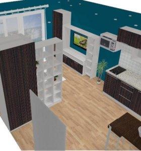 Кухонный гарнитур+ 2 шкафа + стелад