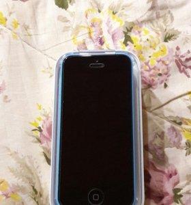 iPhone 5c ( цвет голубой)