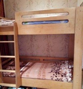 Кровать двухъярусная новая