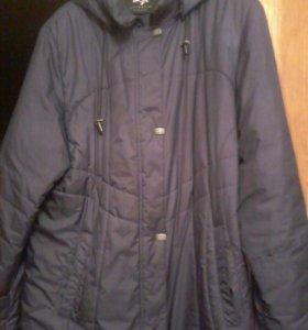 Пуховик Пальто темно-синее