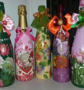 Декорированные бутылки