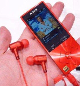 Новый Hi-res плеер Sony nwz-a25 с наушниками
