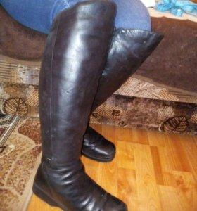 зимние сапоги-ботфорты