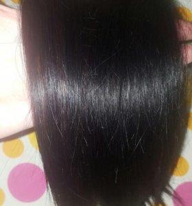 Натуральные волосы на мини лентах