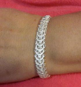 Серебрянный браслет ручной работы