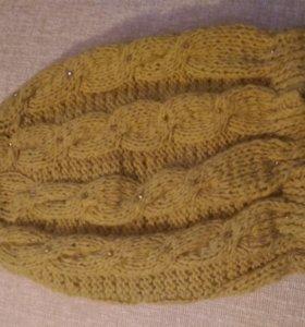 Вязаная шапочка+перчатки