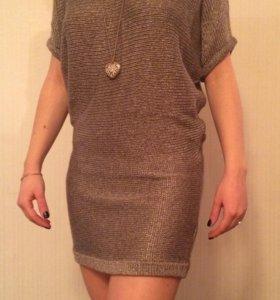 Платье короткое трикотажное