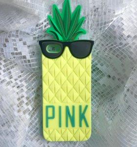 Чехол айфон 5/5s Victoria's Secret Pink pineapple