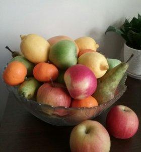 Большая ваза для фруктов(стекло)