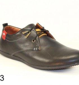 Мужские Новые кожаные туфли