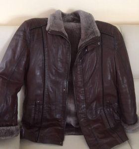 Куртка кожаная (зима)