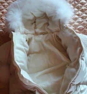 Детский зимний комбинезон-мешок на меху