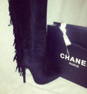 Новые сапоги, реплика Chanel, в коробке