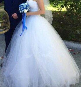 Свадебное платье красивое и пышное