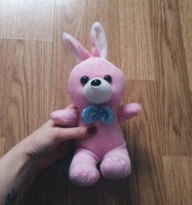 Розовый зайчик игрушка