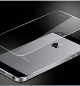 Защитное стекло на заднюю панель iPhone 5/5S