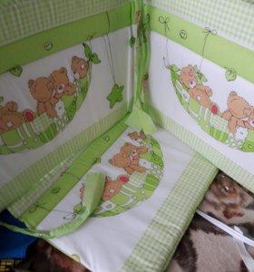 Набор бортиков в детскую кровать