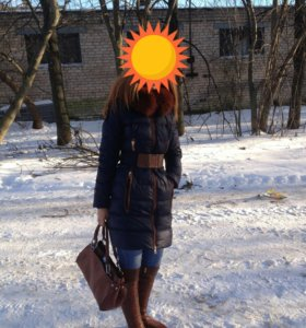 Зимнее женское полупальто