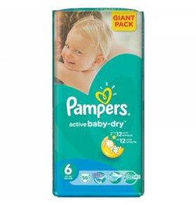 Подгузники Pampers active baby 6 (+15кг) Польша