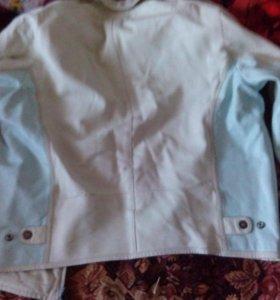 Мужская куртка из натуральной кожи размер 46 48.