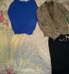 Женская одежда пакетом(кофта,блузка,пиджаки,юбка)