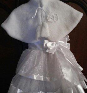 Шикарное платье с балеро