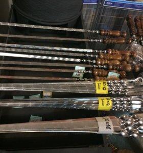 Шампура с деревянными ручками